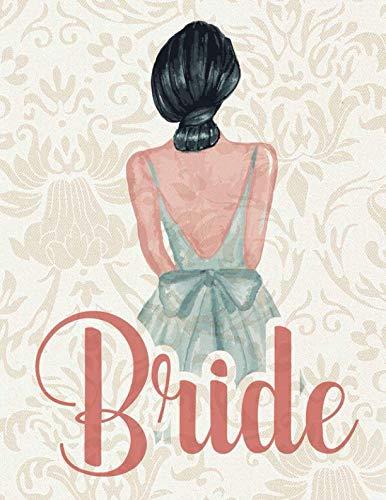 Bride: Wedding Planner Organizer Checklist Journal Notebook for Newly Engaged Couple Cream