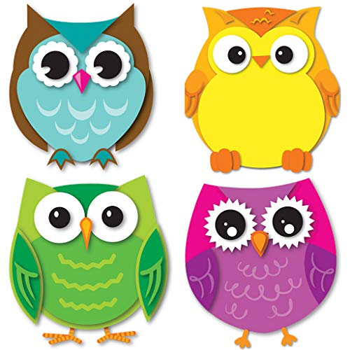 Carson Dellosa Colorful Owls Mini Cut-Outs (120195)]()