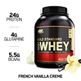 OPTIMUM NUTRITION GOLD STANDARD 100% Whey Protein Powder, French Vanilla Creme, 2.27 kg