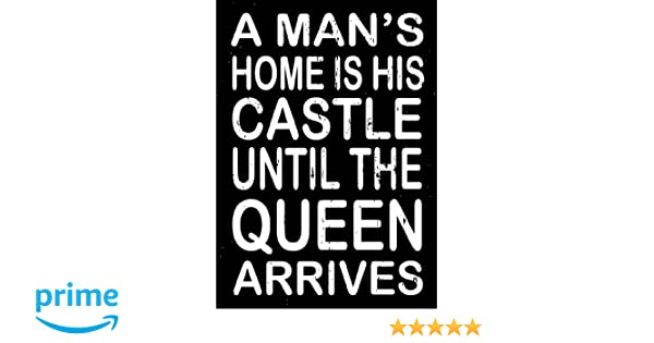 SIXTREES A Man's Home is His Castle Box Sign