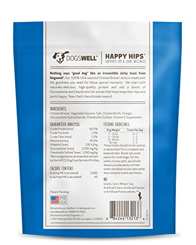 Image of Dogswell Happy Hips Dog Treats, Chicken Flavor, 13.5 Ounce