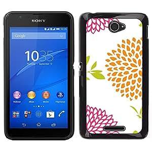 """Pulsar Snap-on Series Teléfono Carcasa Funda Case Caso para Sony Xperia E4 , Modelo anaranjado Rosa Blanco"""""""