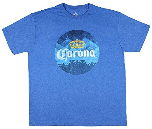 Corona Distressed Logo Licensed Graphic Men's T-Shirt (Royal Blue, XXXL)