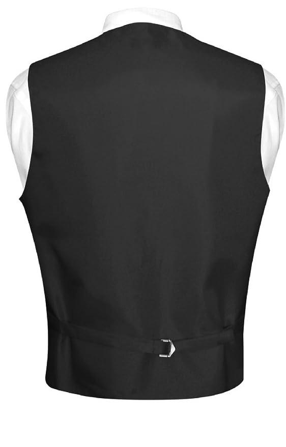 Amazon.com: Hombre vestido chaleco y pajarita sólido color ...