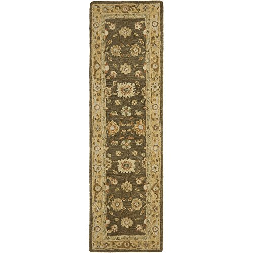 Safavieh Anatolia Collection AN556C Handmade Traditional Oriental Brown and Taupe Wool Runner (2'3