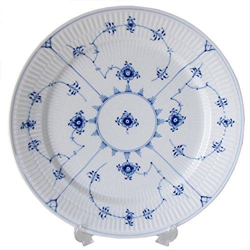 BLUE FLUTED PLAIN BUFFET DINNER PLATE PS