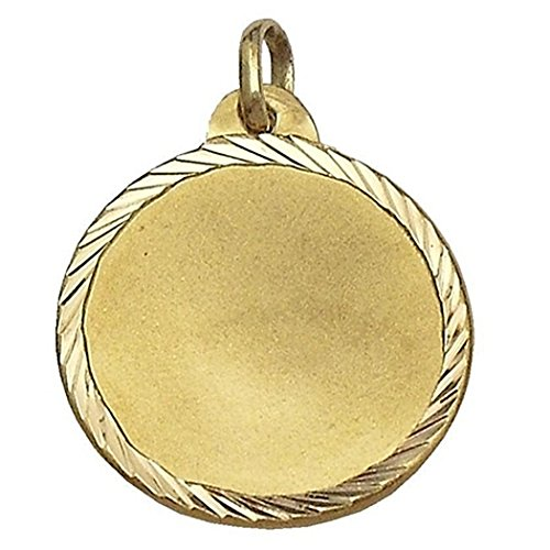 Médaille pendentif Amour 18k alliances d'or [643GR] - personnalisable - ENREGISTREMENT inclus dans le prix