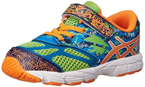 ASICS Kids Noosa Tri 10 TS Running Shoe Flash Green/Flash Orange/Blue4 M US Toddler