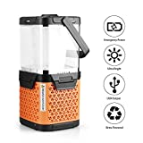 Alldio Salt Water Lantern Brine Powered Camping Lamp LED Flashlights USB Output Survival Kit for Emergency, Hurricane, Outage