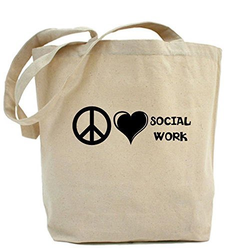 Love; Diseño Trabajo Único Paz; Bolsa La De Social nbsp; Cafepress 6BPxvUP