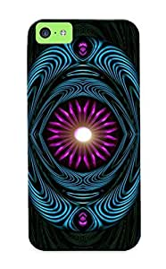 Case For Iphone 5c Tpu Phone Case Cover(surrounded Purple Orb) For Thanksgiving Day's Gift