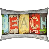 Manual SHLFBB Life At The Beach Climaweave Pillow Digitally Printed 18 X 13 in.