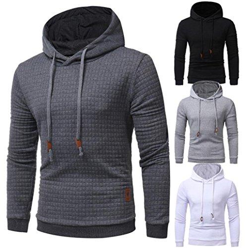 Mens Shirt,Haoricu 2017 Boy Men's Fashion Solid Long Sleeve Hoodie Sweatshirt Sport Teens Casual Tops