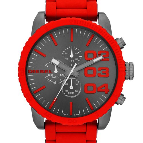 720acc9493e9 Diesel cronógrafo II Double Down rojo de silicona Mens Watch DZ4289  Diesel   Amazon.com.mx  Relojes