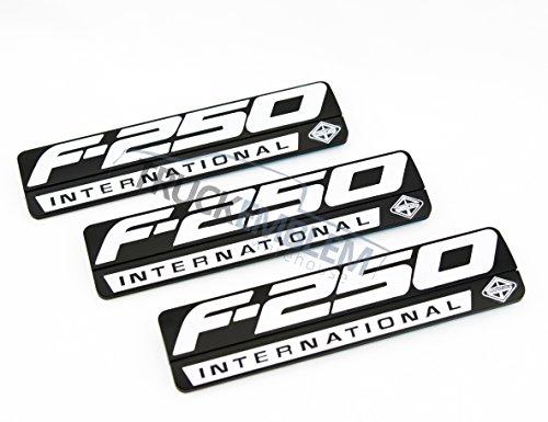 Truck Emblem Warehouse 3 New Custom Black & White F250 Powerstroke International Fender Badges Emblems