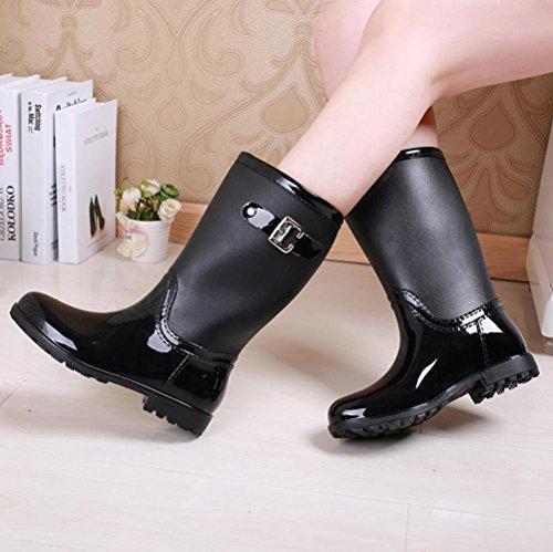 lluvia de botas black de Botas botas de botas lluvia superior amp;JAXIE Y botas tubo moto lluvia de mujer lluvia de de RTq7Aqgaw
