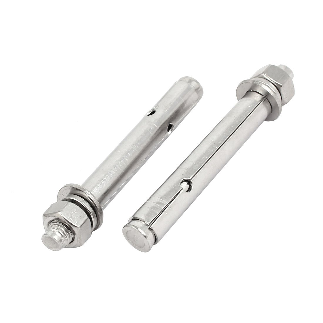 uxcell M12x120mm 304 Stainless Steel Air Condition Fitting Sleeve Anchor Expansion Bolt 2pcs