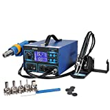 Yescom 992DA LCD Display Rework Soldering Station and Hot Air Gun and Iron Gun and 5 Nozzles Blue