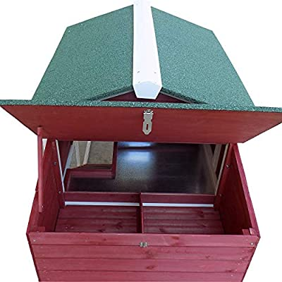 "PawHut 63"" Wooden Backyard Chicken Coop with Garden Box, Run Area, Nesting Box"