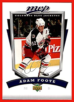 2006-07 Upper Deck MVP #90 Adam Foote COLUMBUS BLUE JACKETS
