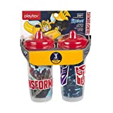 Playtex Baby Sipsters Spill-Proof Transformers Toddler Spout Cup, Stage 3 (12+ Months), Pack of 2