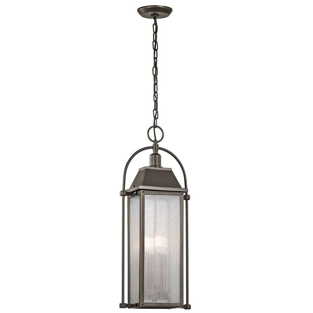 Kichler 49718OZ Four Light Outdoor Pendant
