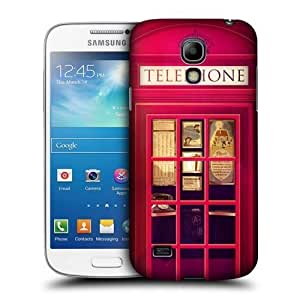 Head Case Designs Red Telephone Booth 0 Protective Snap-on Hard Back Case Cover for Samsung Galaxy S4 mini I9190 Duos I9192
