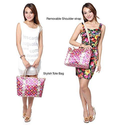 Pañales Babyhugs® Cambiador 3 Large nbsp;piezas Morado Tote Set Bolsa Cute Links Flowers Incluido Chain Bolso De Diseño wwqr0xEp