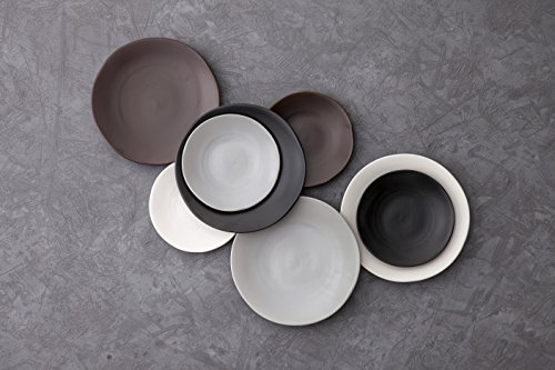 Fortessa Vitraluxe Dinnerware Heirloom Matte Finish Show Plate 12-Inch, Charcoal, Set of 4 by Fortessa (Image #1)