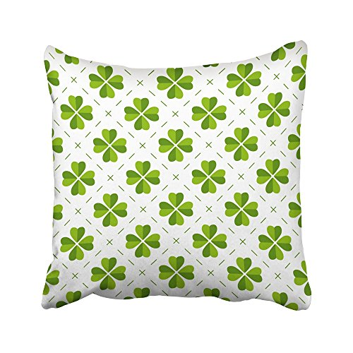 Emvency Decorative Throw Pillow Covers Cases Green Clover