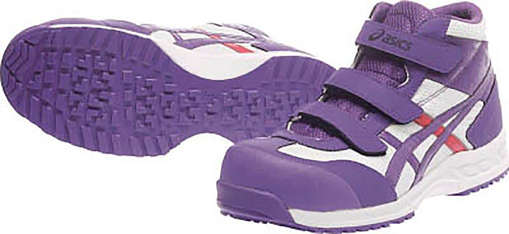 [アシックスワーキング] asics working 安全靴 作業靴 ウィンジョブ42S 樹脂製先芯 B00K0CN4A6 ホワイト/パープル 23.0 cm