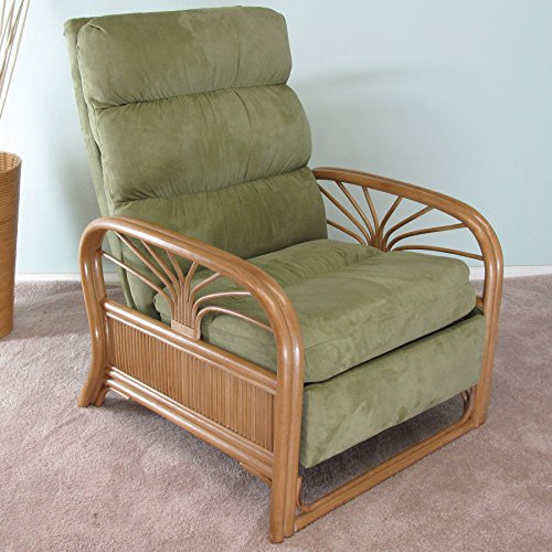 Sundance Rattan Upholstered Furniture Recliner Chair Made in USA by urbandesignfurnishings.com
