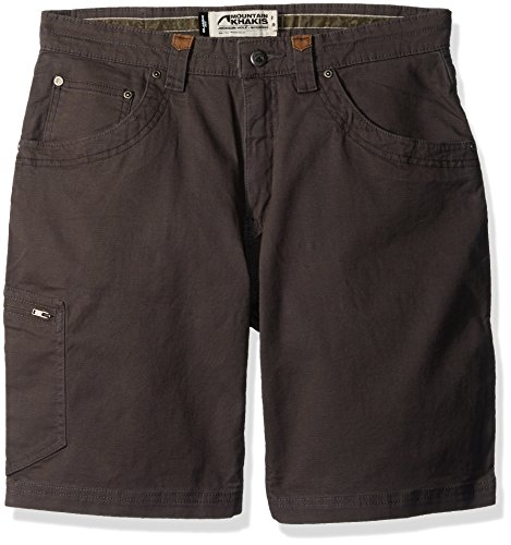 Mountain Khakis Men's Camber 107 Short Classic Fit, Slate, ()