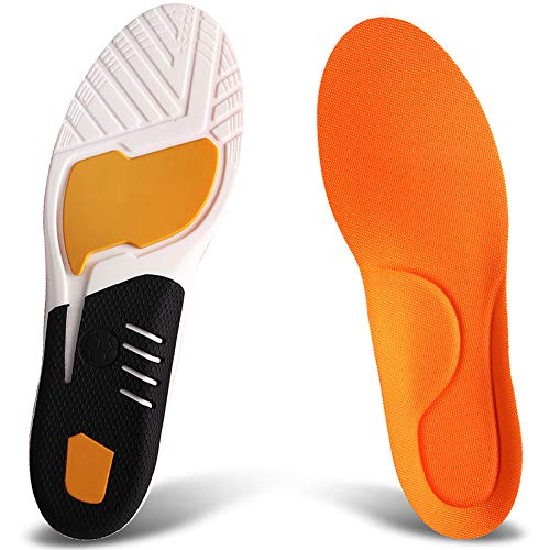 Ailaka Athlete Gel Cushion Neutral Arch Sports Shoe Insoles, Performance Running Inserts for Man and Women (Best Golf Shoes For Supination)