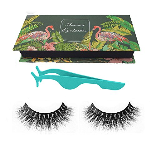 3D Mink Lashes Hand-made Dramatic Makeup Strip Lashes 100% Siberian Fur Fake Eyelashes Thick Crisscross Deluxe False Lashes Black Nature Fluffy Long Soft 1 Pair Package + Useful Eyelashes