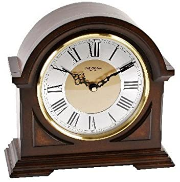 Deluxe Wooden Chiming Mantel Clock - Broken Arch Design ...