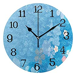 Ernest Congreve Modern Wall Clock, Camel in Desert Silent Non-Ticking Quartz Decorative Battery Operated Wall Clock for Living Room Home Office School Square Shape 8 inch