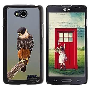 YOYOYO Smartphone Protección Defender Duro Negro Funda Imagen Diseño Carcasa Tapa Case Skin Cover Para LG OPTIMUS L90 D415 - halcón naturaleza naranja caza fauna de aves