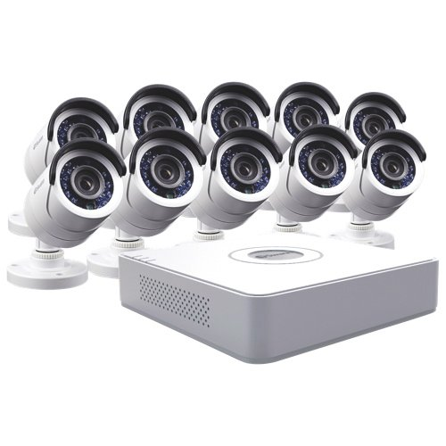 Everfocus Security Cameras - Swann SWDVK-161510W-CA 16 Channel Compact D1 Digital Video Recorder and 10 x PRO-540 Cameras (White)