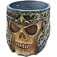 Resin Skull Statue Crafted Guard Station For Round Amazon Echo Dot 2nd & 1st generation speaker Accessories