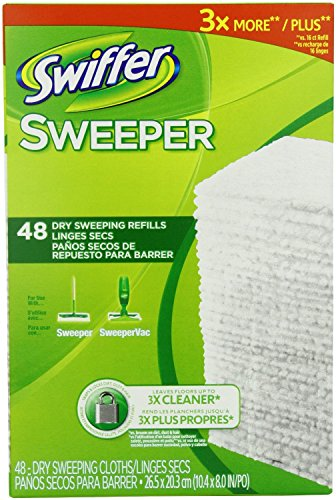 Swiffer Sweeper Dry Sweeping Cloth Refills, 144 Dry Cloth Refills by Swiffer