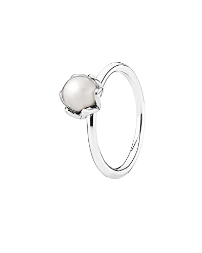 e1d3029f4 Image Unavailable. Image not available for. Color: PANDORA Cultured  Elegance Ring in 925 Sterling Silver with White Freshwater Pearl ...