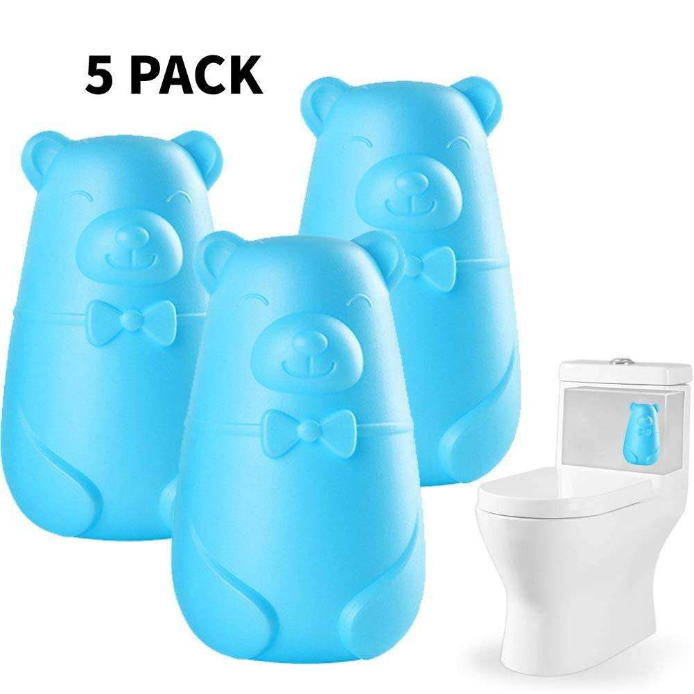 Automatic Toilet Bowl Cleaner, Toilet Tank and Bathroom Cleaning System, Bleach and Blue Cleaning with Natural Plant Scent (Blue, 5) by Sabado