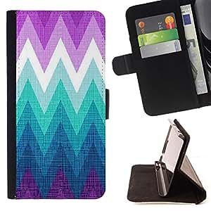 - mountain cold purple teal/ Personalizada del estilo del dise???¡¯???¡Ào de la PU Caso de encargo del cuero del tir???¡¯????n del s - Cao - For Samsung G