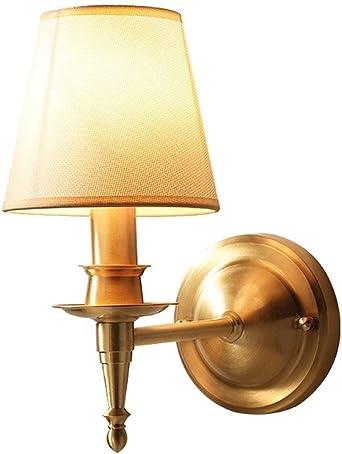 Lámparas de pared Apliques Bañadores de pared Metal Latón Lámpara de pared americana Dormitorio Mesita de noche Sala de estar Escalera Pasillo Pasillo Iluminación decorativa Lámpara de pared luz de pa: Amazon.es: