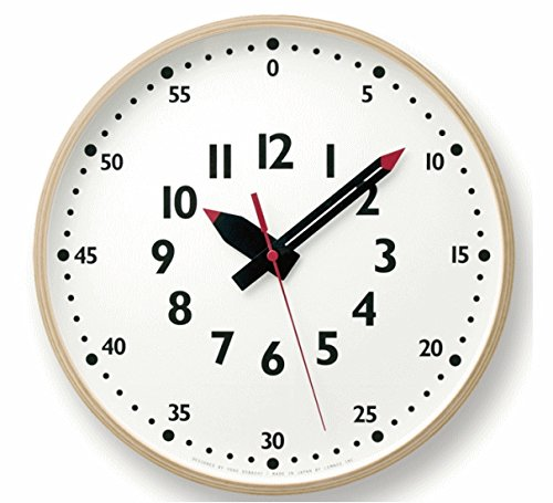 fun pun clock ふんぷんくろっ Lサイズ YD14-08 L 壁掛け時計 クロック レムノス B06ZY998CB