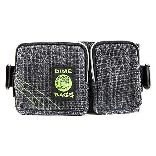 Hip Hugger - Pocketed Hemp Hip Pack w/Spacious Storage and Adjustable Strap (Black) ()