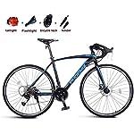 51qm8eoHdqL. SS150 JXH Adulti Road Bike, Uomini Bicicletta da Corsa con Doppio Freno a Disco, ad Alta Acciaio al Carbonio Telaio da Strada…