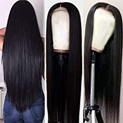Material: 100% brazilian human hair, no any blends, no any synthetic Brand Name: Hermosa Top Brand on Amazon Type: Straight Lace Front Wigs Human Hair for Black womenItems per Package: 1 Piece lace front wigs Human hair Only Texture: brazilia...