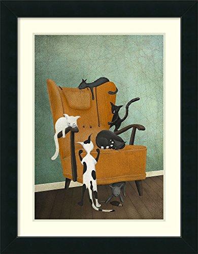 Framed Wall Art Print | Home Wall Decor Art Prints | Catlife by Maja Lindberg | Modern Decor ()